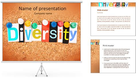 The Word Diversity In Cut Out Magazine Letters Pinned To A Magazine Powerpoint Template
