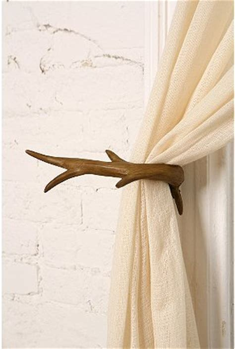 antler curtain tie backs where the wild things are the cultivated home