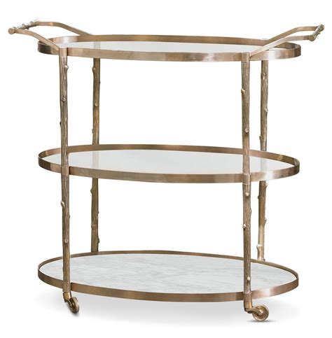 Three Shelf Cart by Vineyard Regency 3 Shelf Brass Bar Cart Kathy