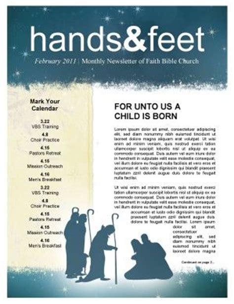 Nativity Church Newsletter Template Newsie Design Pinterest Newsletter Templates Church Religious Newsletter Templates Free