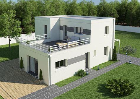 Maison Avec Terrasse Sur Le Toit by Maison Moderne Avec Toit Terrasse Mc Immo