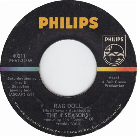 rag doll by the four seasons 1964 all charts weekly top 40