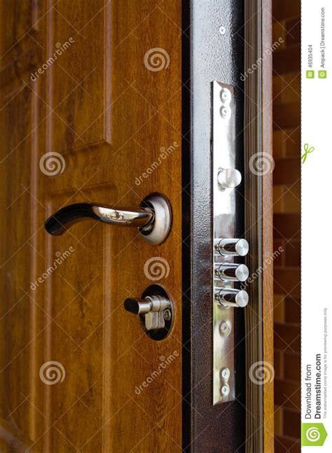 cylinders on a new high security lock stock photo