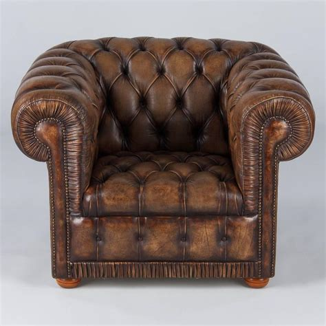 vintage chesterfield armchairs vintage english chesterfield armchair in brown leather