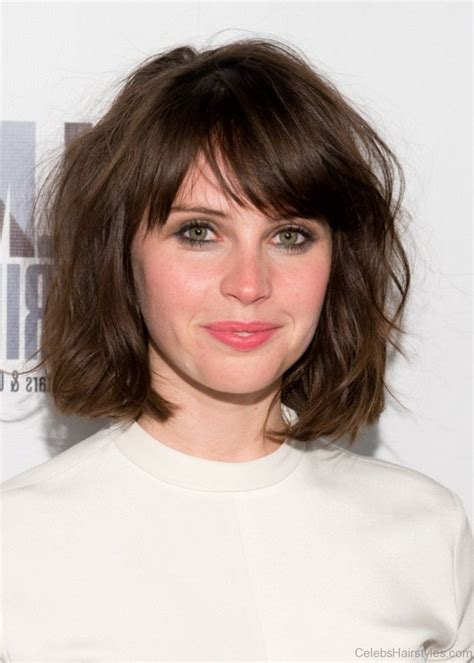 haircuts to get bangs 52 attractive hairstyles of felicity jones