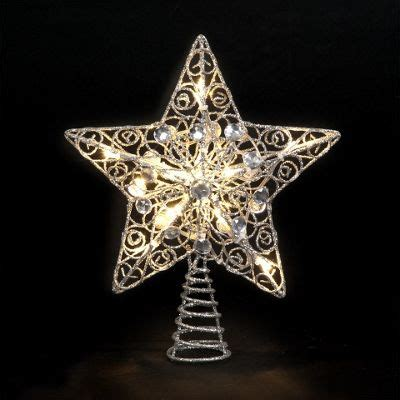 all modern led tree toppers buy 25cm silver tree topper with 10 battery operated warm white leds from our all