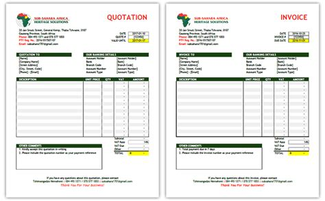 invoice template south africa ncr books pretoria cape town invoice quotation