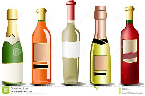 alcohol vector vector bottles of alcohol stock vector illustration of