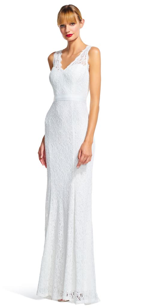 Sleeveless Mermaid Lace Dress v neck sleeveless lace wedding dress w mermaid skirt