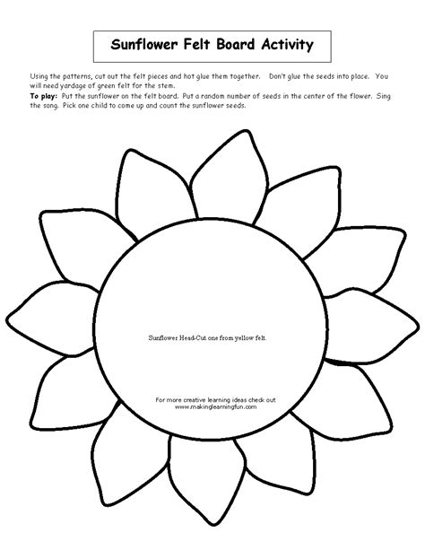sunflower template printable sunflower pattern printable www pixshark images