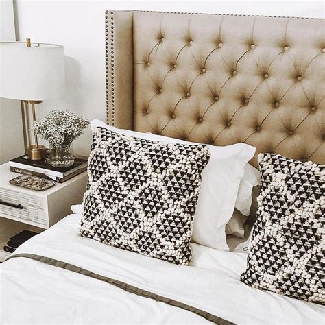 black and white headboards taupe tufted wingback headboard with black and white