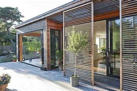 sliding doors with built in blinds in pueblo co modern residence in sweden by johan sundberg
