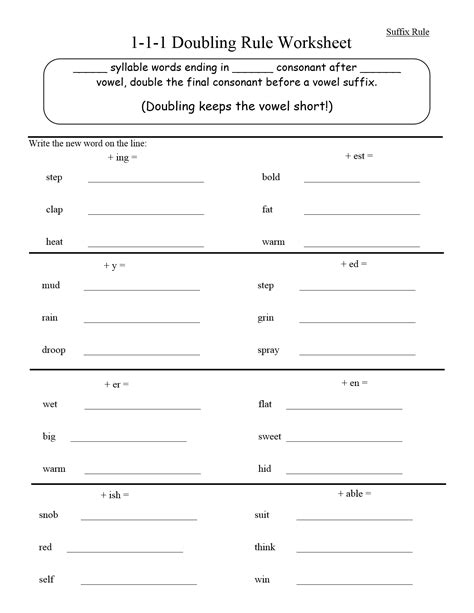 writing pattern rules worksheet spelling rules worksheets 4th grade from the heart up