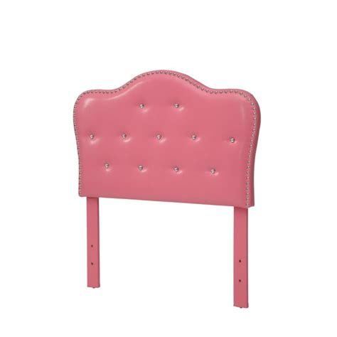 pink tufted headboard twin furniture of america cronin twin tufted headboard with