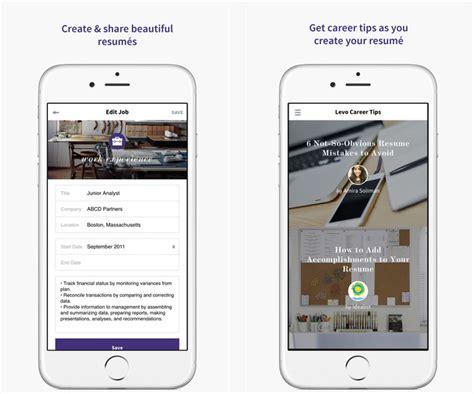Levo Resume App Dossier Applications Iphone Et Recherche D Emploi Cv Et Lettre De Motivation Jcsatanas