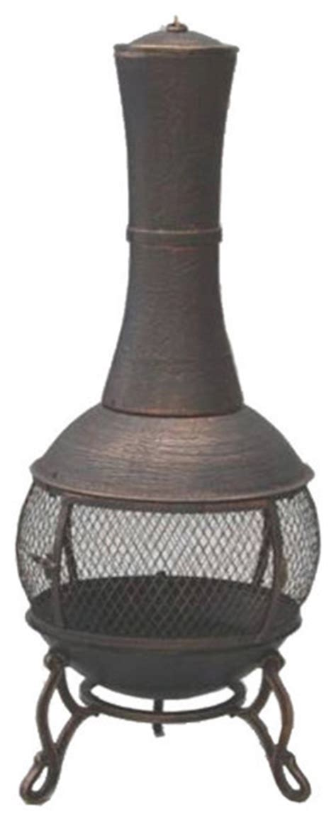 Cast Iron Chiminea Bunnings garden odyssey cast iron antique bronze chiminea traditional chimineas by overstock