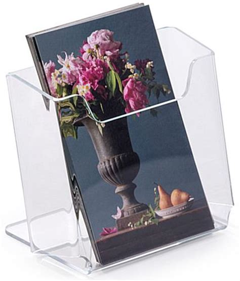 Tabletop Literature Rack by Acrylic Brochure Holders Clear Tabletop Leaflet Pockets