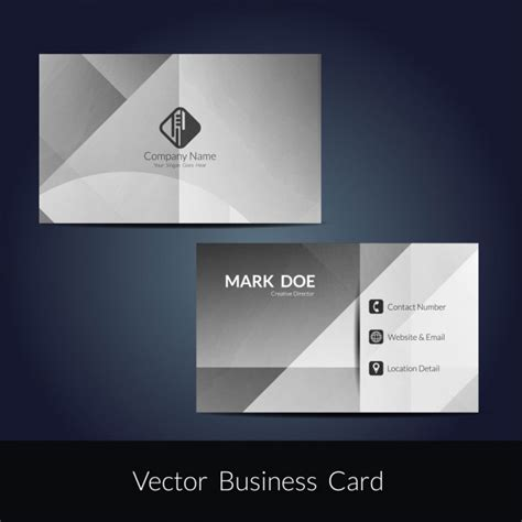 Color Business Card Template by Grey Color Business Card Template Vector Free