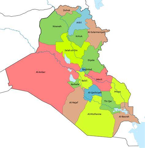 the map of iraq iraq kuwait map
