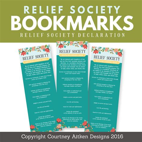 printable lds bookmarks lds relief society bookmarks