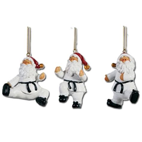 taekwondo santa ornament set taekwondo holiday ornaments