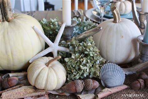 coastal thanksgiving table sand  sisal