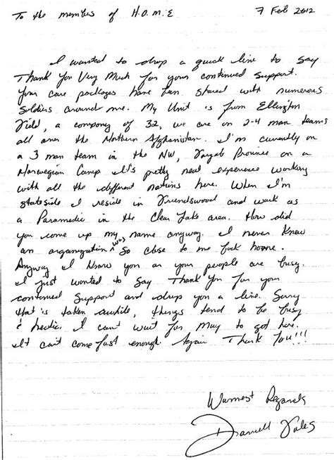 Letter To Servicemen Home Help Our Endure Letters From Our Soldiers