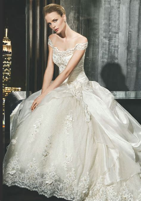 brautkleid halblang wedding inspiration big gown wedding dresses