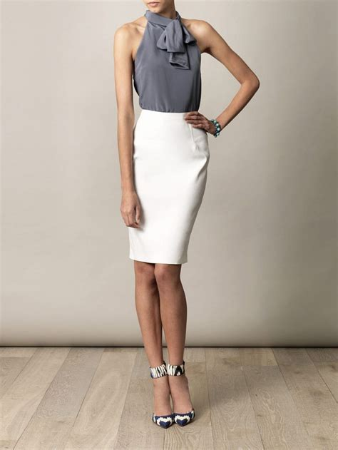 1000 ideas about white skirt on work