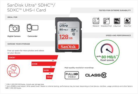 Memori Sandisk Ultra Sd 64gb48mbs sandisk ultra 80mb s sd 128gb 64gb 32gb 16gb class