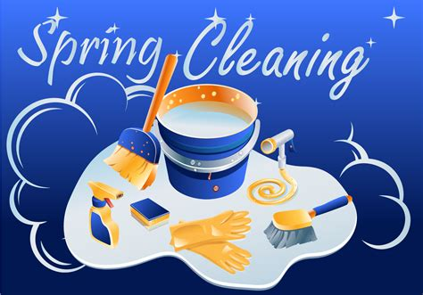 spring cleaner sparkly spring cleaning vector download free vector art