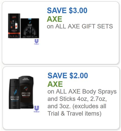 3001 axe gift set printable coupon axe coupons 3 off any axe gift set and 2 off any one
