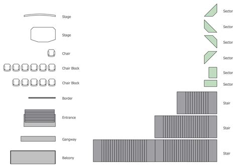 seating plan symbols seating plans solution conceptdraw com