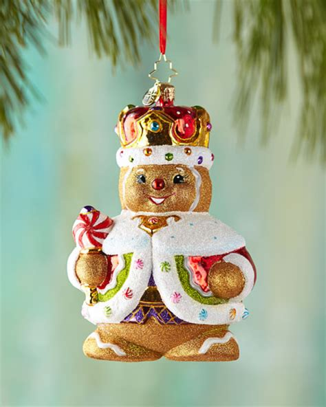 christopher radko ginger king christmas ornament