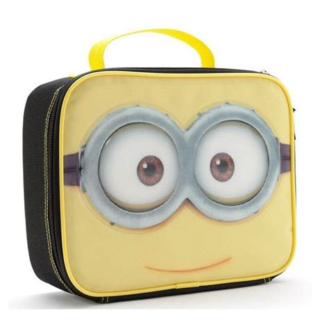 Minion Set Black Or Yellow despicable me 2 minion lunch bag insulated box yellow