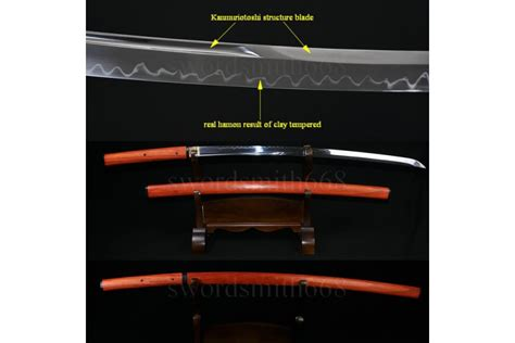 Pedang Katana Sirasaya Kanji traditional forged japanese shirasaya sword t10 steel