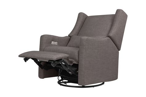 electronic recliners babyletto kiwi electronic recliner and swivel glider grey