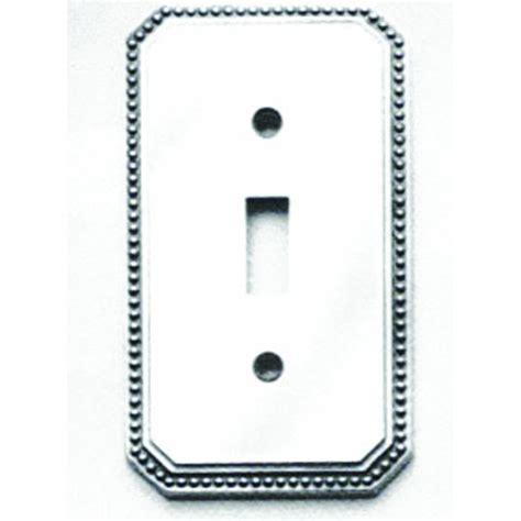 omnia 8004 gfs beaded switchplate single w gfci
