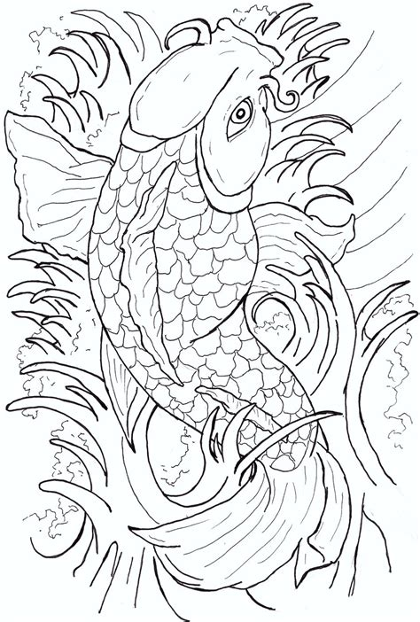koi fish tattoo drawing design japanese koi fish flash