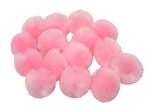 pink pomeranian baby pink craft pom poms craft factory made in the uk