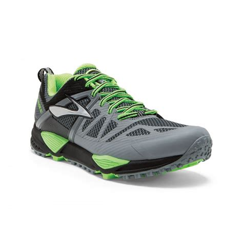 trail running shoes cascadia cascadia 10 trail running shoes grey and green mens