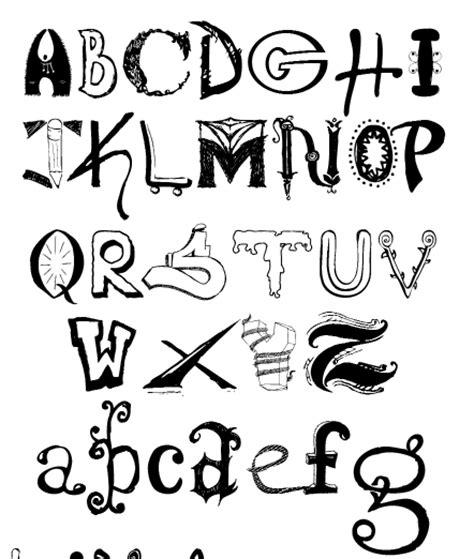 different letter fonts the graffiti design