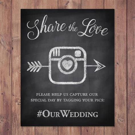 Wedding Hashtag Sign by Wedding Hashtag Sign The Printable 8x10