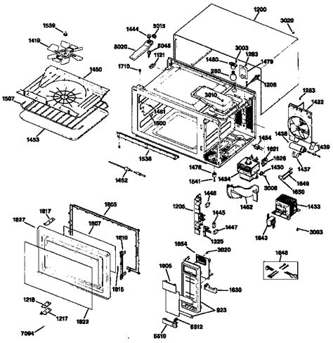 ge microwave parts diagram ge microwave oven parts model je1455l02 sears partsdirect