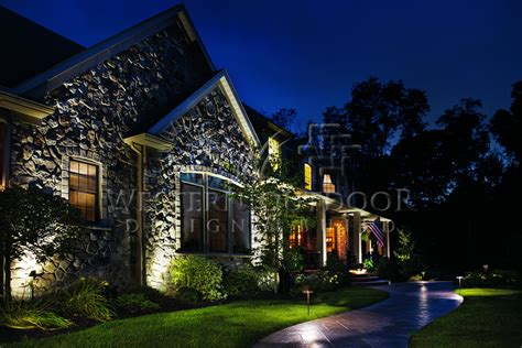 Kichler Led Landscape Lighting Low Voltage Outdoor Landscape Lighting Gallery 1 Western
