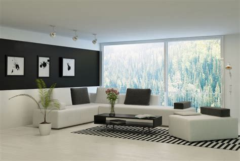 living room in white black and white living room decor ideas