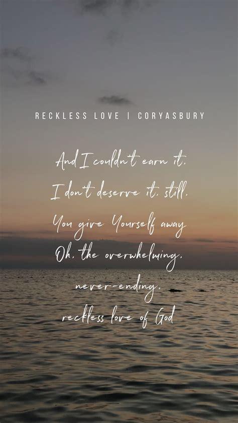 reckless love christian song quotes christian lyrics christian song lyrics