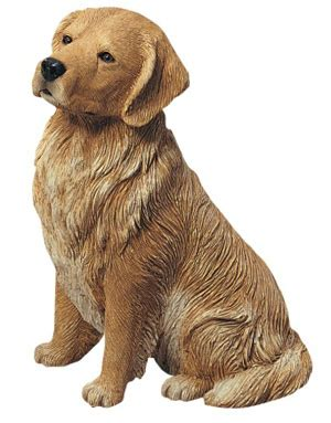 golden retriever statue golden retriever sitting sculpture