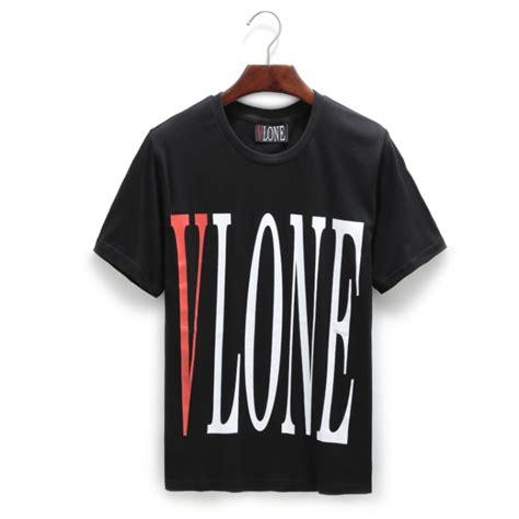 vlone logo crewneck t shirt black