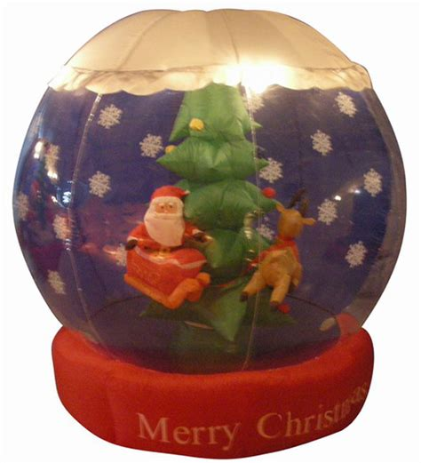 6 airblown inflatable animated santa snow globe christmas